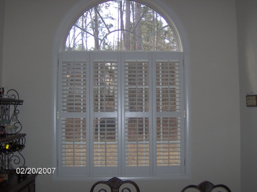 "2 1/2"" Double Window Plantation Shutters w/ Arch"