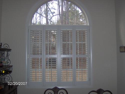 """2 1/2"""" Double Window Plantation Shutters w/ Arch"""