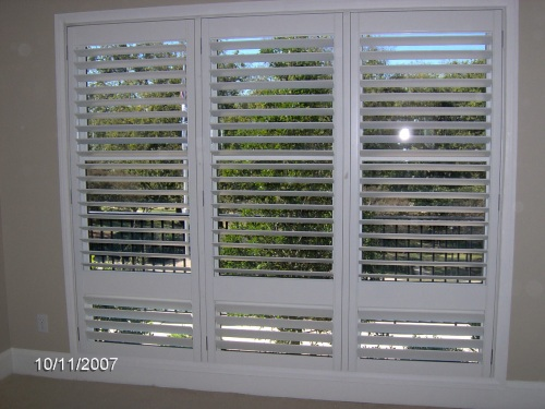 "3 1/2"" Plantation Shutter (Triple with Hidden Rod)"
