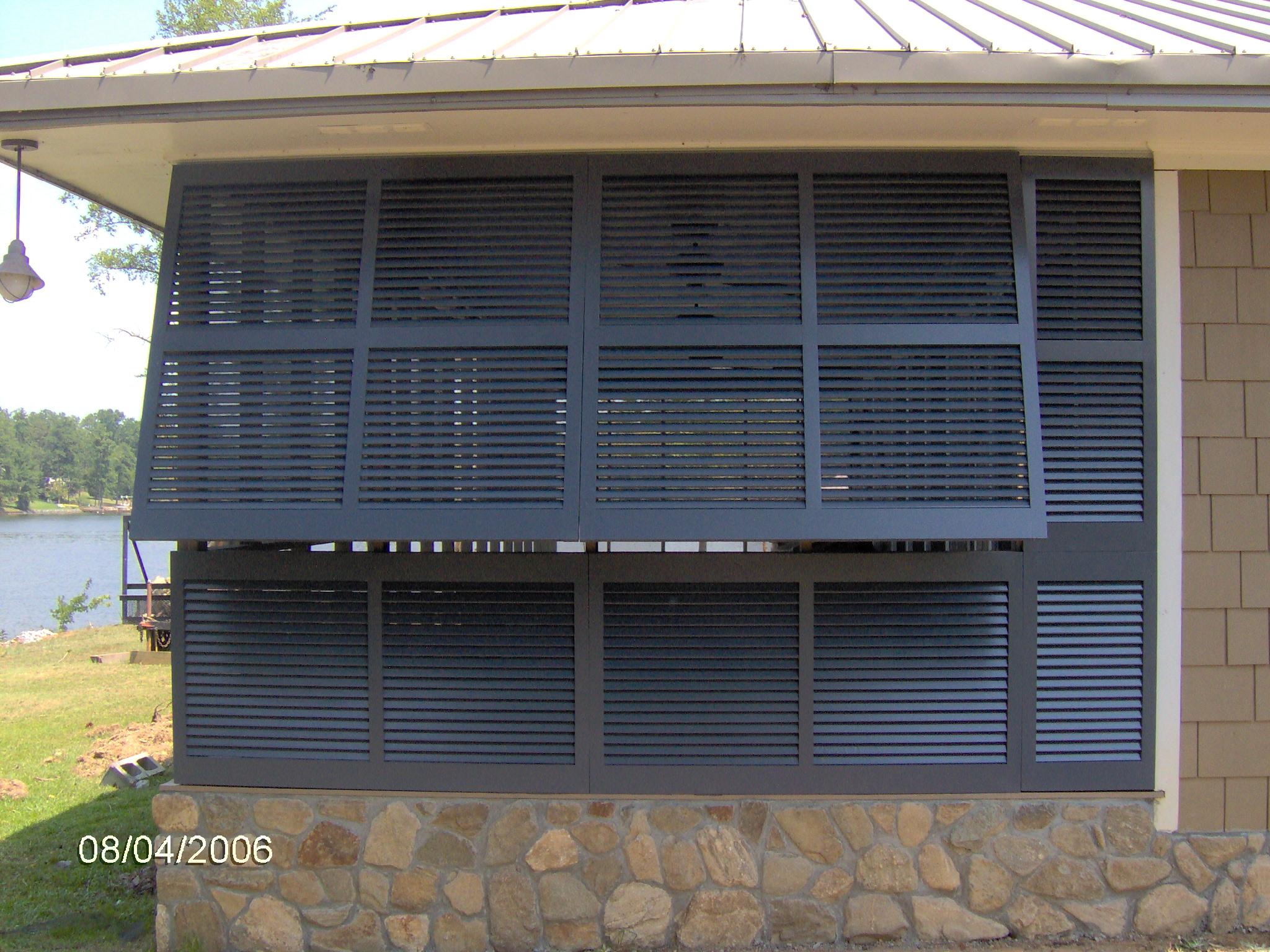 Vinyl bahama shutters