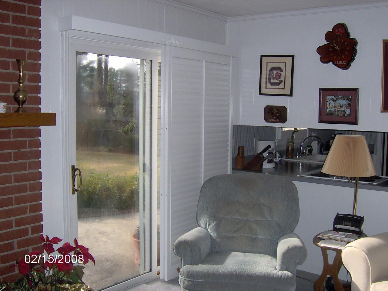 Interior shutters for sliding glass doors - Sliding Glass Door Shutters
