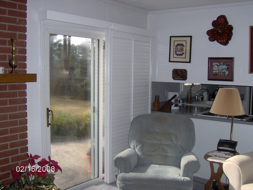 Sliding Glass Door Shutters Carolina Blind Shutter Inc