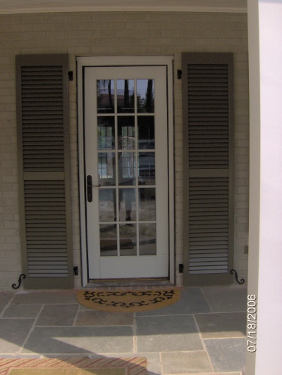 Exterior shutters carolina blind shutter inc for French doors front entrance