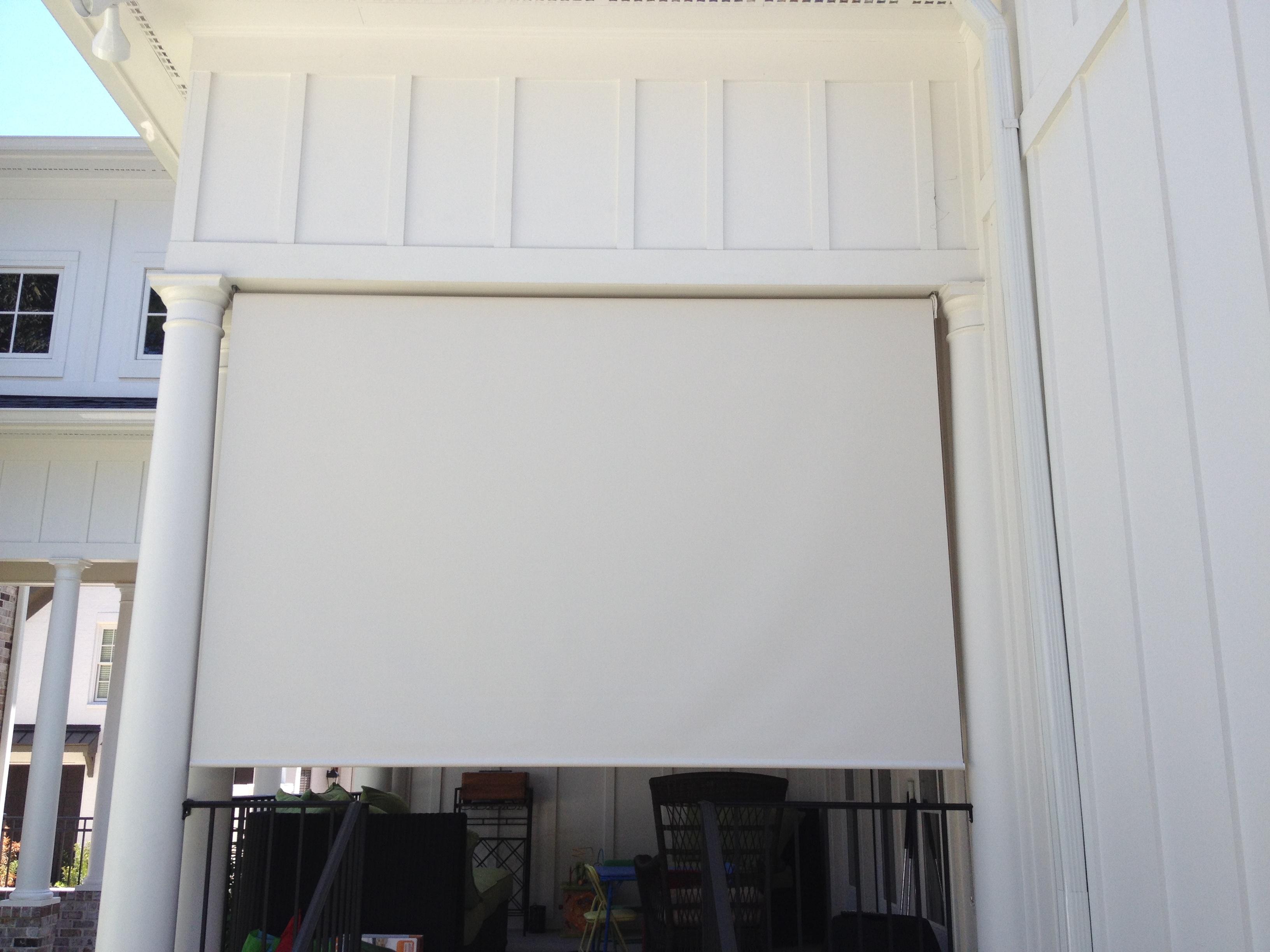 Ext Roller Screen 1 Outside View Carolina Blind Shutter Inc
